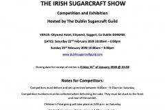 Irish Sugarcraft Show 2020 - Sugarcraft Schedule